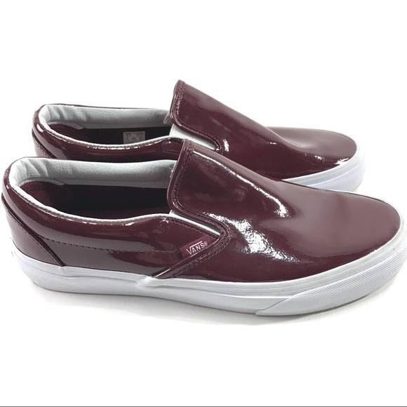 9bf2707de3 Vans Shoes - Vans Classic Slip On Shoes Patent Burgundy